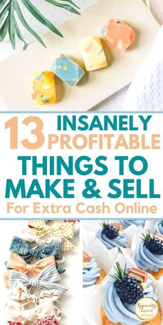Easy Crafts To Sell, Money Making Crafts, Sell Diy, Diy Home Crafts, How To Make Money, Extra Cash, Extra Money, Craft Business, Business Ideas
