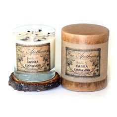 The aroma of this botanical soy wax candle will fill your home with the scent of earthy cedar wood. These candles are so pretty there is no need to wrap them. Vegan Candles, Soy Wax Candles, Cinnamon Candles, Cassia Cinnamon, Vegan Gifts, Aromatherapy Candles, Glass Containers, Glass Candle, Apothecary