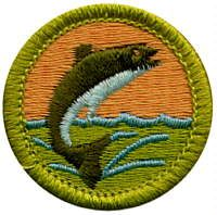 Fishing merit badge is a fun one for Boy Scout summer camp. Of the eleven Scouts who went to camp from our troop a couple of weeks ago, seven did this badge.  My favorite part when I am with Scouts working on this badge  - watching them cook the fish.