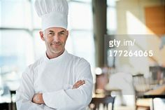 View top-quality stock photos of Portrait Of A Chef Smiling With Arms Crossed In A Restaurant. Find premium, high-resolution stock photography at Getty Images. Restaurant Photos, Arms Crossed, Portrait Photography, Food Photography, Royalty Free Images, Chef Jackets, Stock Photos, Photo Libre, Pictures