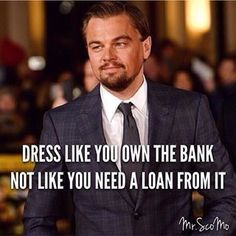 Always, take pride in how you dress. ••••••••••••••••••••••••••••••••••••••••••••••••••••••• Want to look #dapper like Leo? Check out the styles at @Chris Suit.world. •••••••••••••••••••••••••••••••••••••••••••••••••••••••
