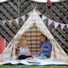 Fabric Wigwam illustrated Tutorial, great for kids this Summer!