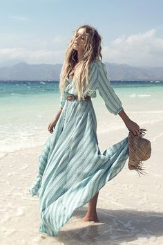 Island Boho Gown - Turquoise – CHILD of the SUN