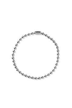 Weekday Ballchain Necklace in Silver