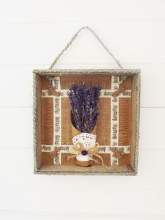 Bishop's House Wall Hanging House Wall, Handmade Decorations, Wall Hangings, Dried Flowers, Home Gifts, Flower Arrangements, Lavender, Eyes, Frame