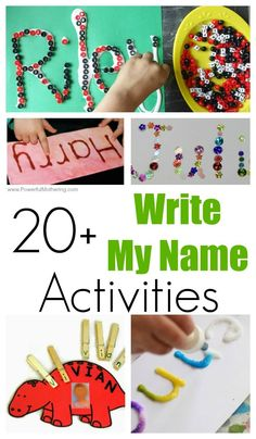 20 FUN Write My Name Activities for Toddlers and Preschoolers - Kids Names - Ideas fo Kids Names - Turn teaching your child to write their name in a FUN activity! Take a look at these fun creative activities to help your child learn to write their name! Name Writing Activities, Name Activities Preschool, Toddler Learning Activities, Preschool Learning Activities, Toddler Preschool, Kids Learning, Preschool Kindergarten, Teaching Kids To Write, Creative Teaching