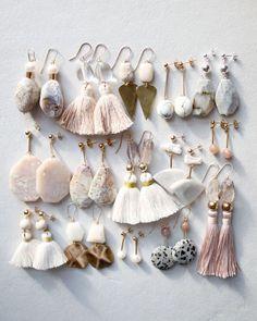 Ocean Jaspis, Marmor, Perlen und Quarz Ohrringe Ocean jasper, marble, pearl and quartz earrings Ocea Cute Jewelry, Diy Jewelry, Jewelry Box, Jewelry Accessories, Fashion Accessories, Handmade Jewelry, Jewelry Design, Jewelry Making, Fashion Jewelry