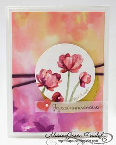 A La Pause: AW20: Défi Couleurs, Around the world stampin' up! challenges, Bloom with hope, éclosion d'espoir, cartes, cards, Marie-Josée Trudel