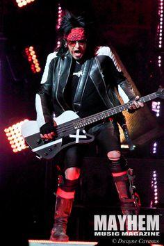 Nikki Sixx of Motley Crue at Save Mart Center in Fresno, Ca. Photography by Dwayne Cavanas for Mayhem Music Magazine
