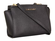 MICHAEL Michael Kors Medium Selma Messenger Black - Zappos.com Free Shipping BOTH Ways