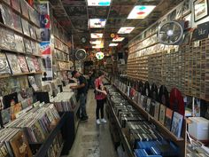 Record Shop on Newport Avenue, Ocean Beach, San Diego, USA