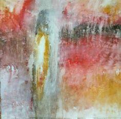 """Proyecto """"En Esencia"""" 70×70 Pigmento, resina/ lienzo (Secuencias en 1 sólo gesto. 30min. Proceso aditivo en una única dirección; negro, rojo, ocre, blanco.   Otoño ❤"""
