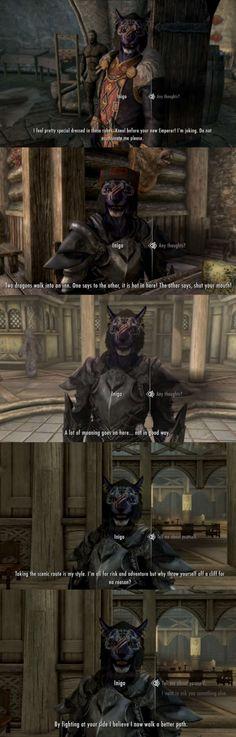 Inigo the best follower in Skyrim