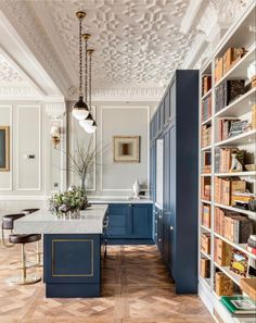 The ideal merging of kitchen into a period space.