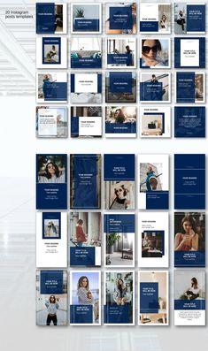 Instagram Feed Layout, Instagram Grid, Instagram Post Template, Instagram Design, Instagram Posts, Instagram News, Social Media Template, Social Media Design, Web Design