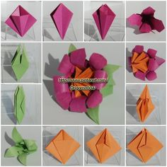 1987 best origami flower images on pinterest origami flowers origami flower mightylinksfo