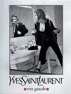 Karen Mulder Campaign YSL - 1991 Photo: Helmut Newton