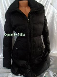 Kenneth Cole Reaction Women XL Black Long Down Puffer Jacket Coat   eBay