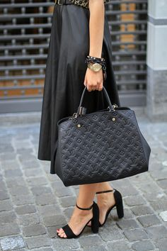 Runway fashion | Street Styles | Best Choice for Cheapest Louis Vuitton Handbags #Louis #Vuitton #Handbag, combinación
