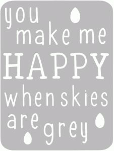 Silhouette Design Store - View Design #41376: grey skies 3x4 life card