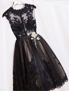 1950s Inspired Sheer Lace Prom Dress