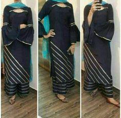 Indian Designer Suits, Designer Salwar Suits, Designer Dresses, Stylish Dress Designs, Dress Neck Designs, Kurti Embroidery Design, Embroidery Suits, Kurta Designs, Blouse Designs