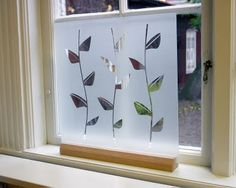 Great ideas:  Free-Standing Glass Window Shades
