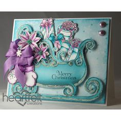 Heartfelt Creations - Merry Christmas Sleigh And Presents Project
