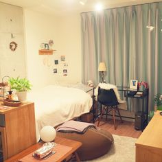 IKEA/イームズチェア/unico カーテン/ワンルーム/一人暮らし/ベルメゾン…などのインテリア実例 - 2017-01-10 20:36:13 | RoomClip(ルームクリップ)