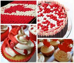 Great ideas for what treats and desserts to serve on Canada Day. Holiday Pies, Holiday Baking, Christmas Desserts, Holiday Treats, Canada Day 150, Happy Canada Day, Canada Celebrations, Canada Day Crafts, Canada Day Party
