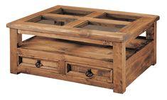 Mesa de centro rustica con cristales y cajones, muebles para salones rústicos en internet, mas en: http://rusticocolonial.es/mueble-rustico-y-mueble-mejicano-de-gran-calidad-al-mejor-precio/muebles-de-salon-rusticos-y-mejicanos-de-gran-calidad-al-mejor-precio/mesas-de-centro-rusticas-y-mejicanas-de-gran-calidad-al-mejor-precio