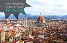 Spend 3 days in Florence exploring all the things to do in Florence with this extensive guide to the city. Includes places to stay and eat, day trips from Florence and insider tips. Guide for what to do in Florence, Italy.