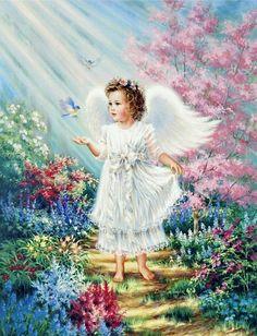 Beautiful Angel Flower Vylette Moo wondering in FairyLand