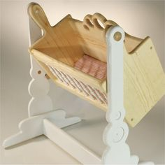 Doll Accessories - Crib Cradle Pendulum Wood