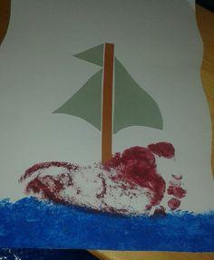 Selfmade boat birthdaycard