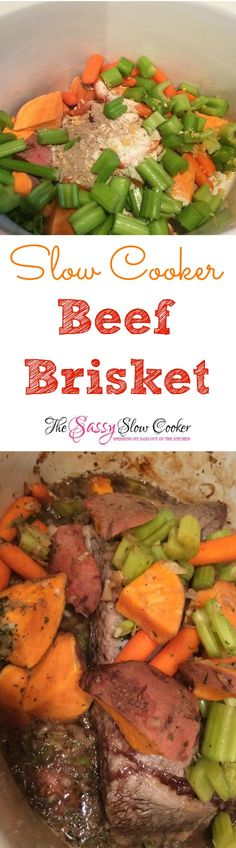 Slow Cooker Beef Brisket Recipe! Super easy to make and a perfect Hannukah recipe.