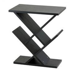 Adesso Zig Zag Accent Table Black 2