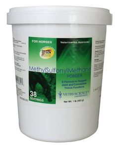 Vetri-Science Laboratories Methylsulfonylmethane Supplement for Horse, 1-Pound by Vetri-Science Laboratories. $14.00. Supports collagen synthesis for connective tissue health and cell regeneration. A convenient, easy to use powder. A formula to support joint and connective tissue function in horses. Msm is a naturally occurring sulfur compound found in the body and in foods. Sulfur is a critical component of many important amino acids contained in our cellular proteins. ...