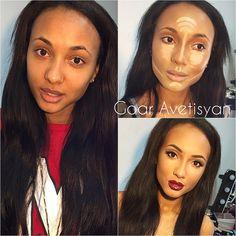 Ideal make-up for photosession  идеальный макияж и кремовая коррекция для фотосессии  сегодня у нас день мулаток  красотка @mary_sennn #Padgram