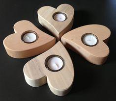Teelichthalter-Herz, 1-flammig, Holzdeko | HOLZLIEBE-ISERLOHN | Geschenke aus Holz | MADE IN GERMANY