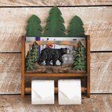Black Bear Forest Magazine and Toilet Paper Holder
