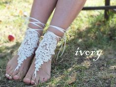 free ship  ivory embroidered with pearls lace by Weddngstore, $30.00