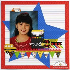 Doodlebug Back To School Star Layout by Mendi Yoshikawa : Gallery : A Cherry On Top