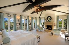 33 Amazing Master Suite Bedroom Design Ideas - Everyone needs a change every once in a while and if you have had the same colors and furniture in the master suite for a while, it may be time for a . Dream Master Bedroom, Gold Bedroom, Master Bedroom Design, Bedroom Decor, Bedroom Ideas, Master Suite, Pine Bedroom, Serene Bedroom, Bedroom Pictures