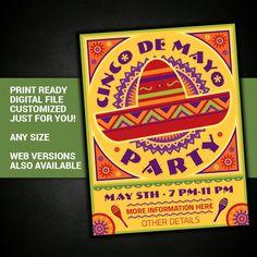 Cinco de Mayo fiesta party celebration Mexican by BowWowCreative