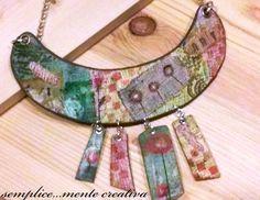 https://flic.kr/p/EQUYbW | Polymer clay necklace