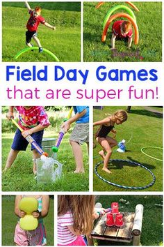 Field day games and activities for kids. Outdoor party games and summer fun! - - Field day games and activities for kids. Outdoor party games and summer fun! Field day games and activities for kids. Outdoor party games and summer fun! Field Day Activities, Field Day Games, Summer Camp Activities, Summer Camp Games, Activity Days, Family Activities, Party Games For Kids, Camping Games For Kids, Sports Day Activities