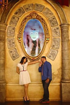 Modern and Chic Disneyland Engagement Photos - Christina Sanchez Photography