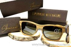 Shwood creates unique, one-of-a-kind sunglasses out of recycled hardwoods. Their philosophy is to encourage creativity and originality, using nature as their primary source of inspiration. COOL!
