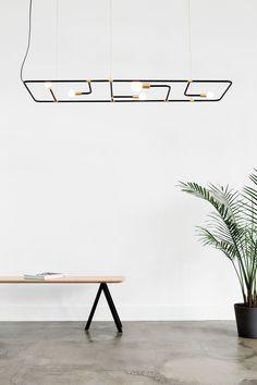 BEAUBIEN floor lamp, wall lamp, pendant || LAMBERT & FILS studio || brass + powder coated aluminum